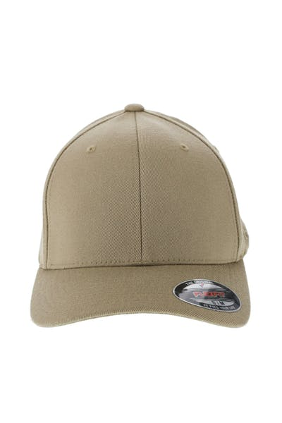 Flexfit Staple Wool Blend Fitted Hat Khaki