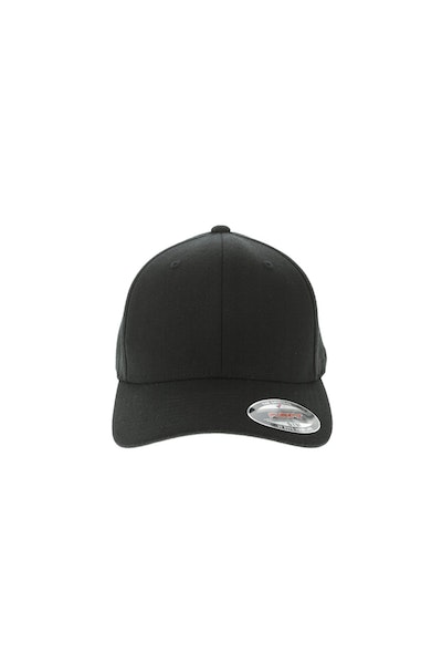 Flexfit Staple Wool Blend Fitted Hat Black