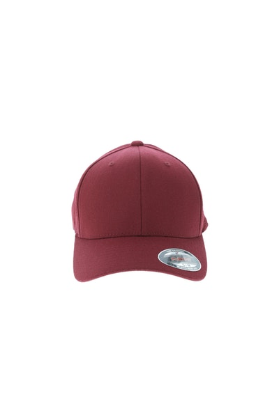 Flexfit Staple Wool Blend Fitted Hat Maroon