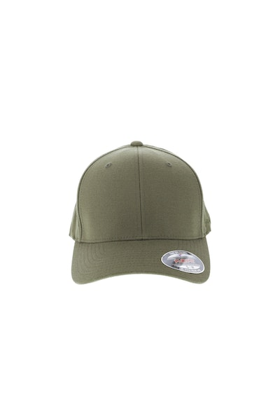 Flexfit Staple Wool Blend Fitted Hat Olive