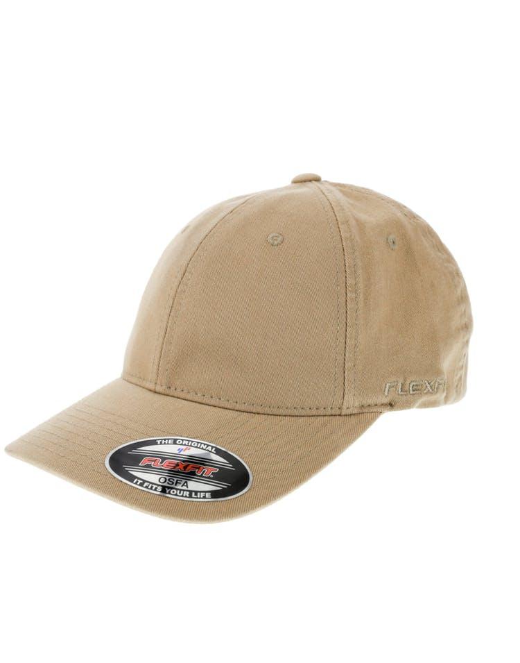 3a64e44c179e44 Flexfit Garment Washed Lo Pro Fitted Hat Khaki – Culture Kings