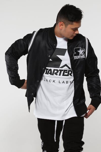 Starter X Culture Kings Satin Jacket Black