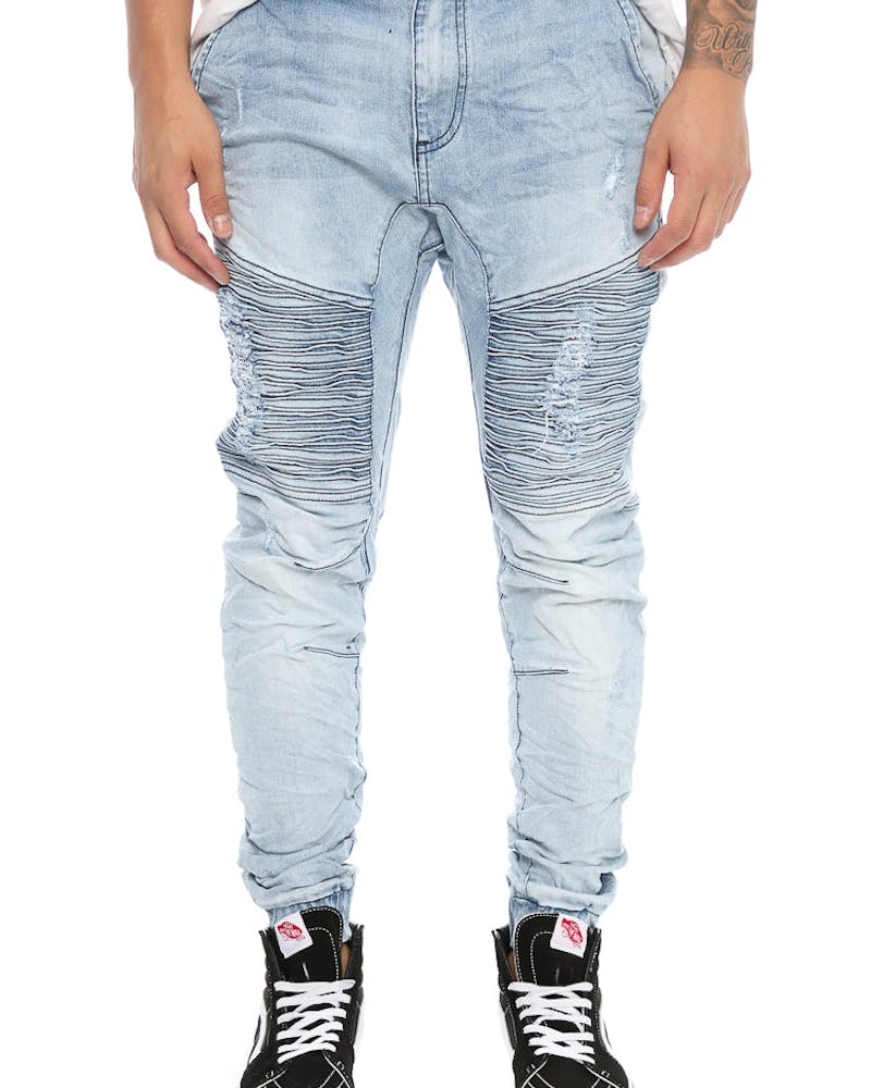 Nena and Pasadena Destroyer Elastic Ankle Jean Light Blue