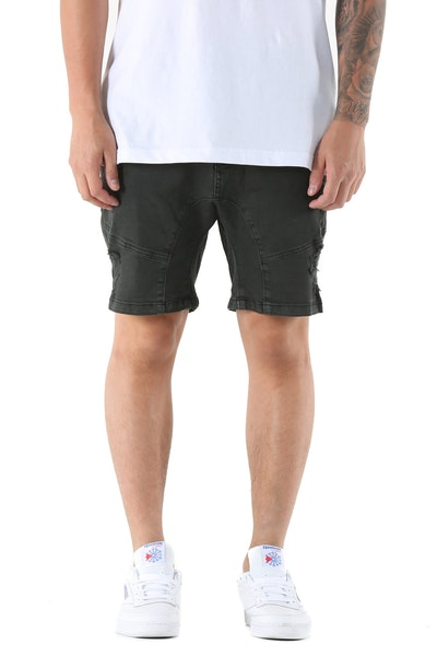 Nena And Pasadena Flight Short Washed Black
