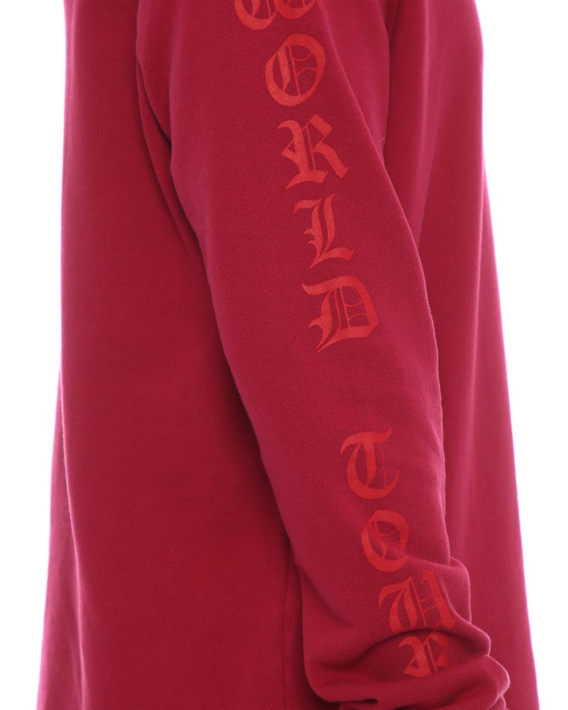 Sushi Radio Tour Canada Hooded Sweatshirt Red