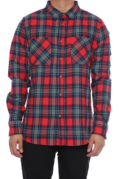 Sushi Radio Skid Row Long Sleeve Shirt Navy/Red