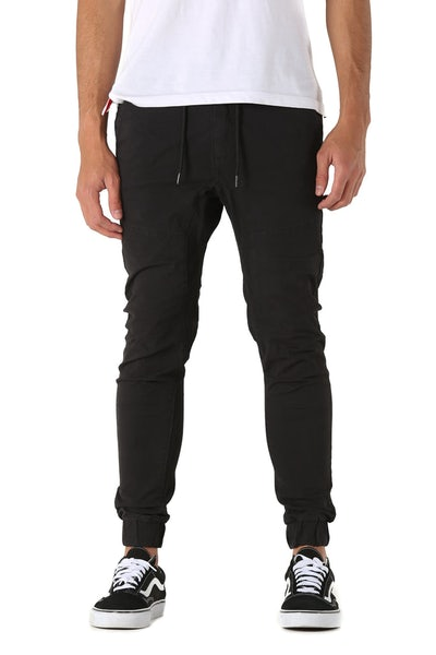 Nena and Pasadena Commander Elastic Ankle Chino Black