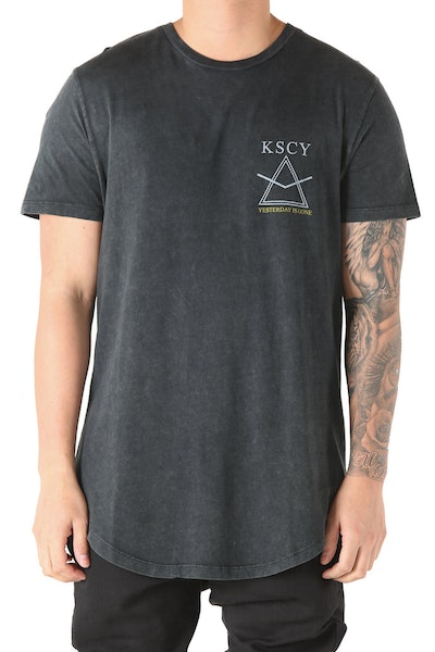 Kiss Chacey Darkside Dual Curve Hem Tee Acid Black