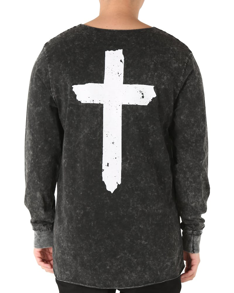 Kiss Chacey The Church L/S Pocket Tee Acid Black