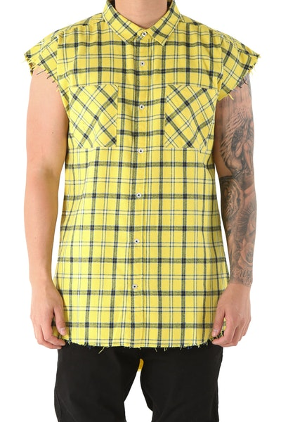 Sushi Radio Scorpion Sleeveless Shirt Yellow