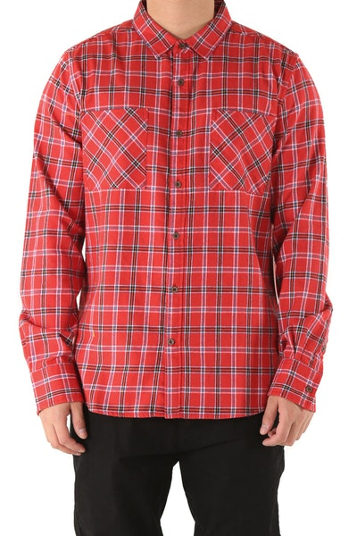 Sushi Radio Skid Row Long Sleeve Shirt Red