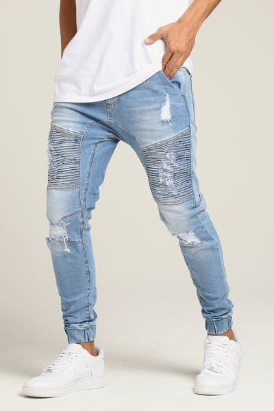 Nena and Pasadena Destroyer Elastic Ankle Jean Arizona Blue