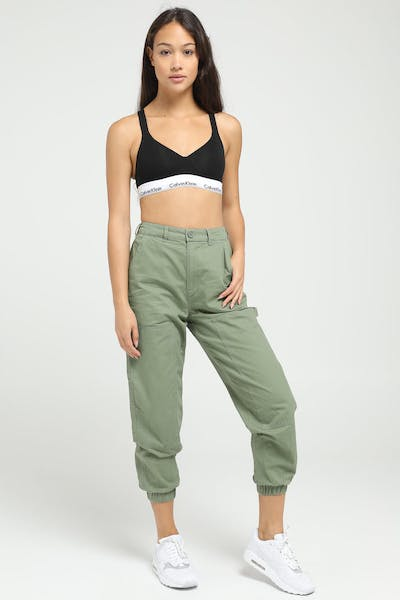 Stussy Women's Fuller Workers Pant Lichen Green
