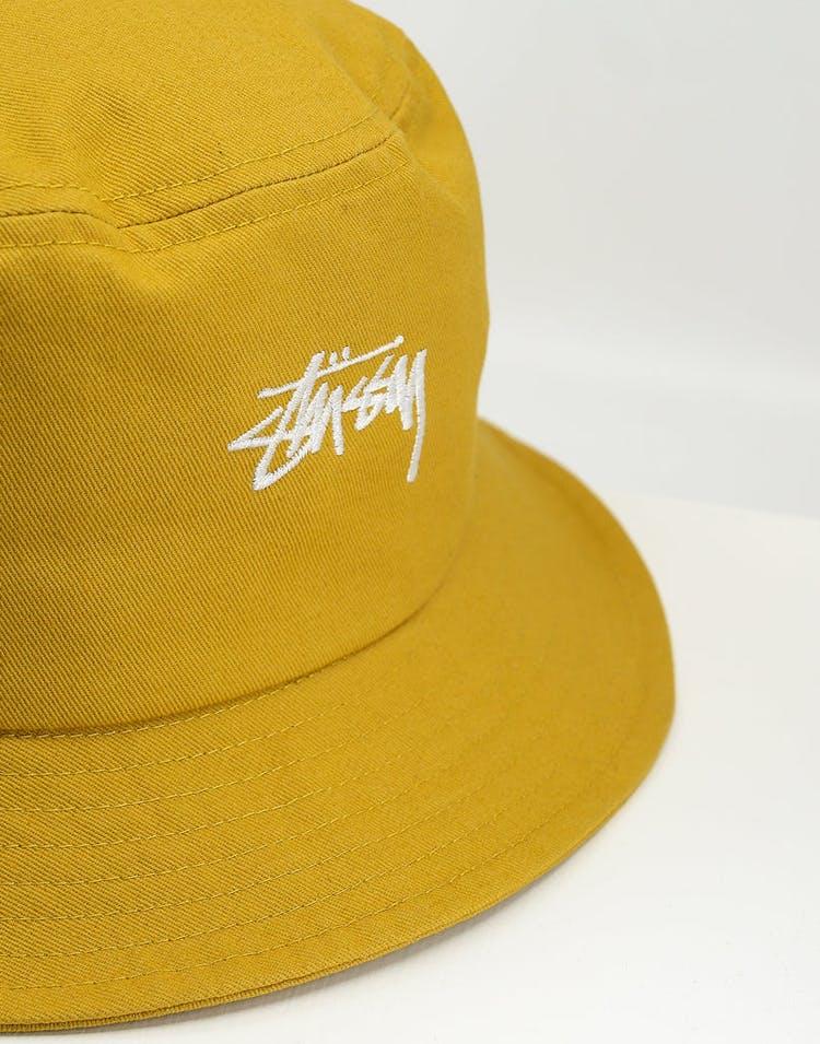 Stussy Stock Bucket Hat Mustard