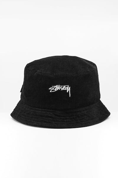 Stussy Authentic Cord Bucket Hat Black