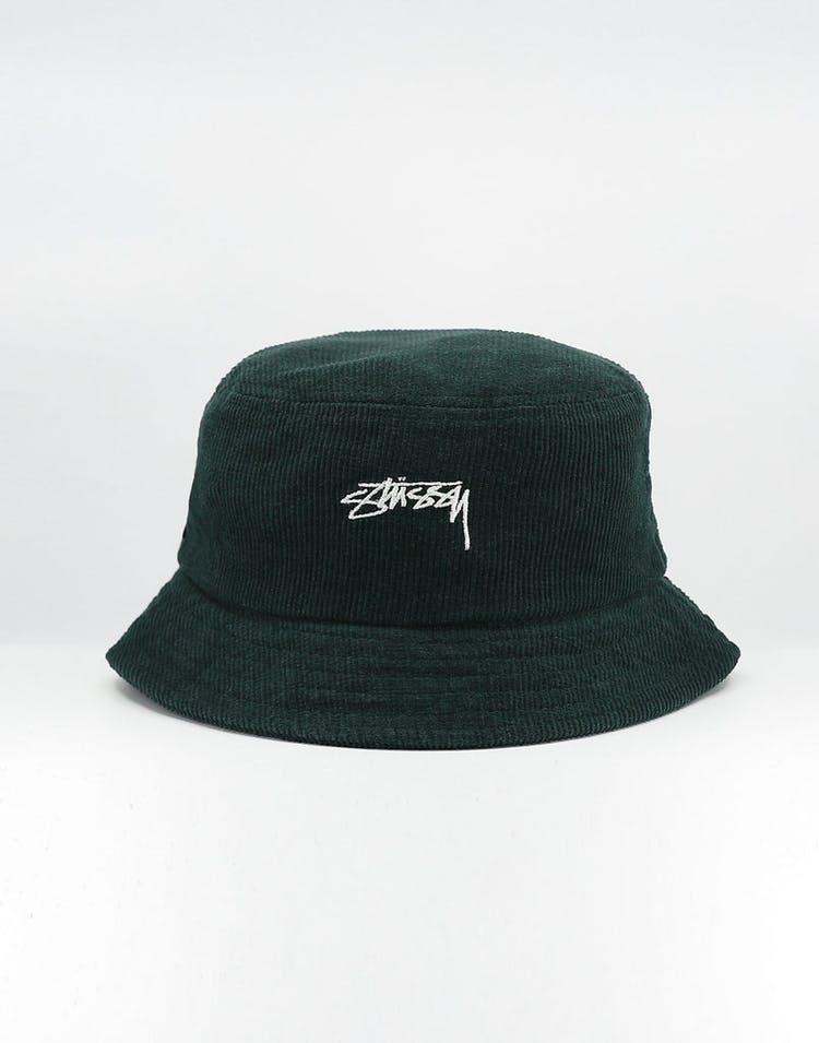 erilaisia muotoiluja halpa vakaa laatu Stussy Authentic Cord Bucket Hat Dark Bottle