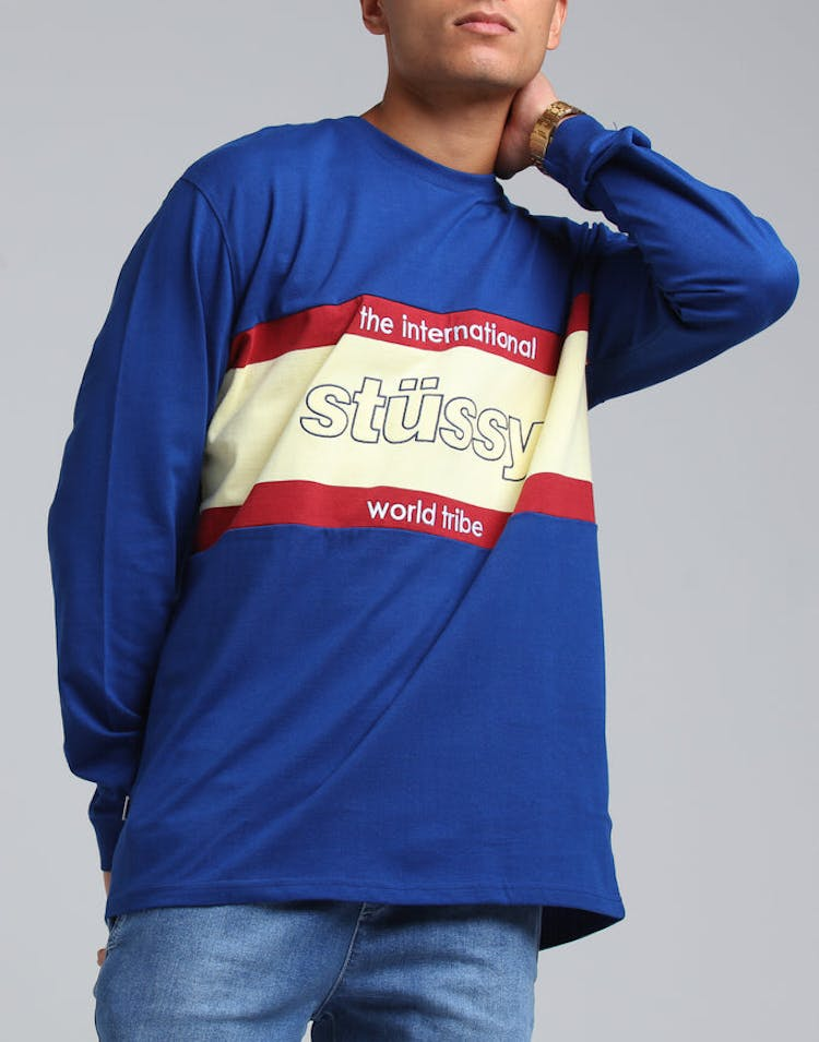 c12dac54 Stussy World Tribe Rugby LS Tee Navy – Culture Kings