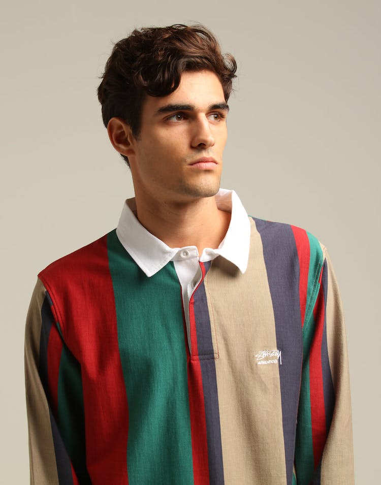 a7c153626a34 Stussy Authentic YD Stripe Rugby Bottle Green – Culture Kings