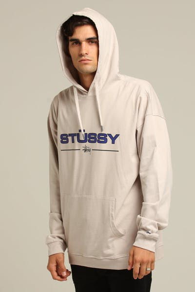 Stussy Pavement Rugby Hood White Sand