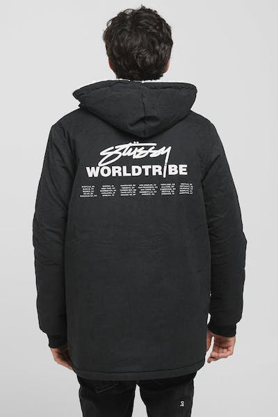 Stussy Reverse Sherpa Jacket Black/Cream
