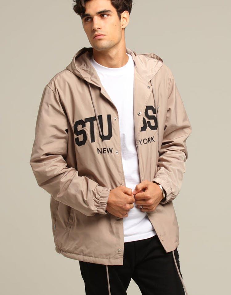 97c078d05 Stussy NY Hooded Coaches Jacket Mushroom – Culture Kings