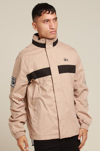 Stussy Big S Jacket Dark Sand