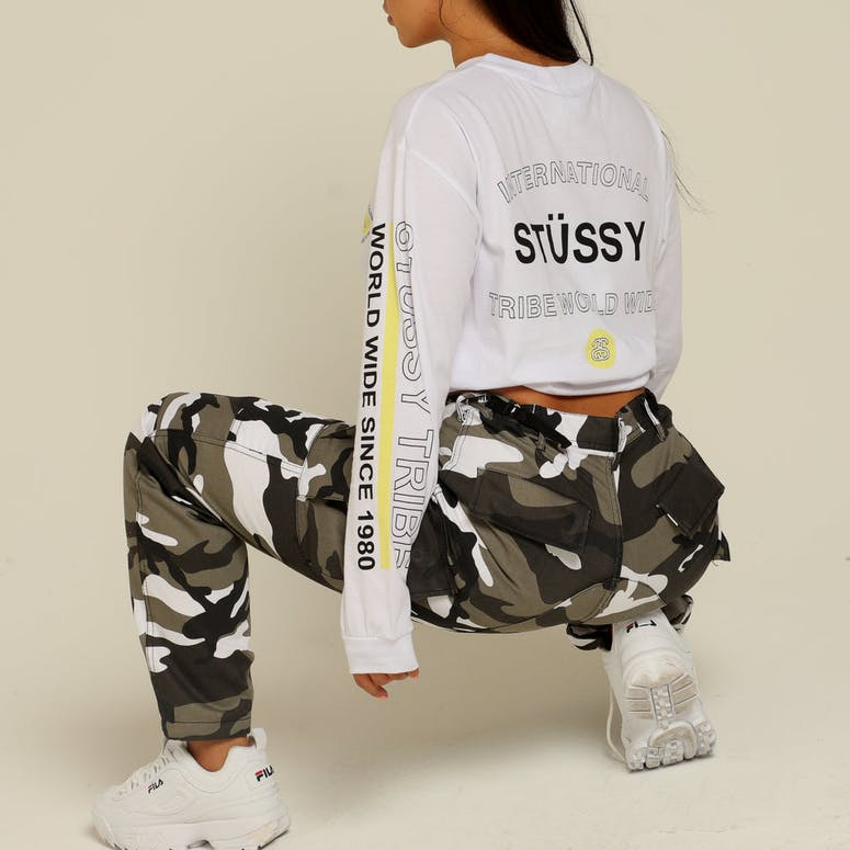 Stussy Women's Webster LS Tee White