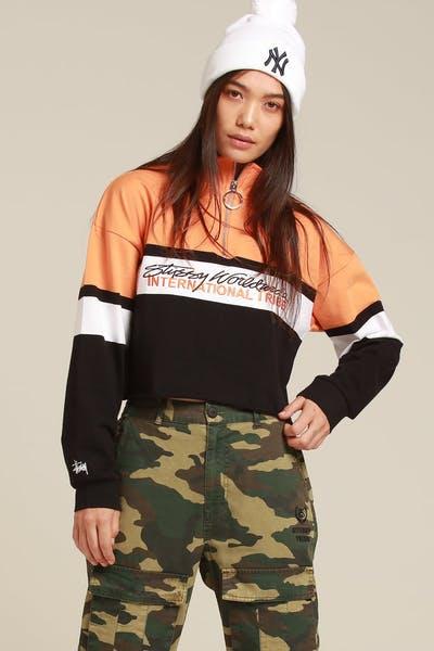 9617a250784 Stussy Women s Bancroft LS Zip Up Black