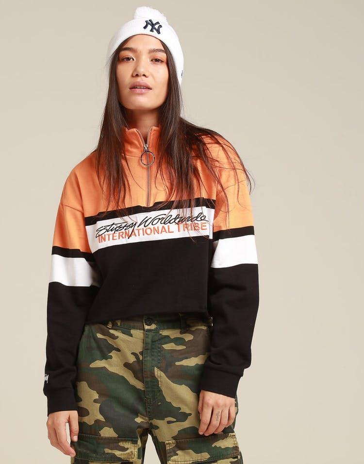 Stussy Women's Bancroft LS Zip Up Black
