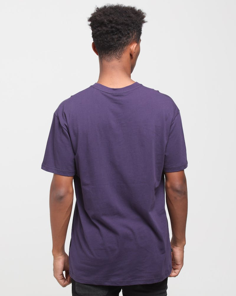 Stussy Athletics SS Tee Dark Aubergine
