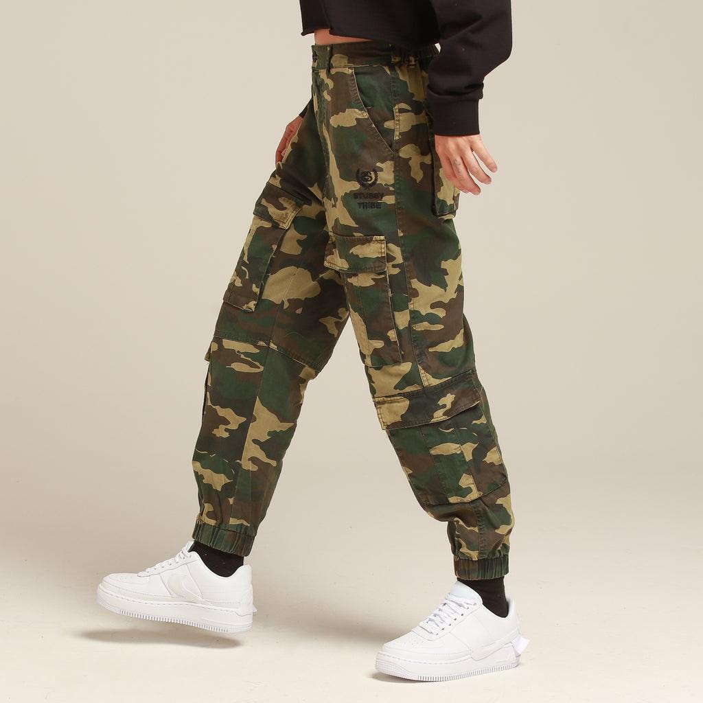 Stussy Women's Hunt Cargo Pant Green Camo
