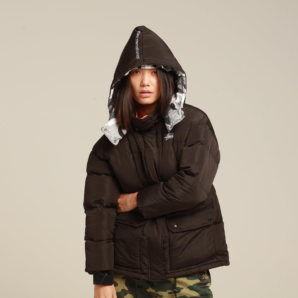 Stussy Women's Tribe Puffa Jacket Black