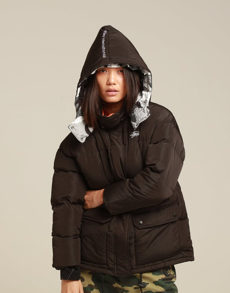 Stussy Women's Tribe Puffa Jacket Black