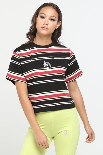 Stussy Women's Vanished BF Tee Black Stripe