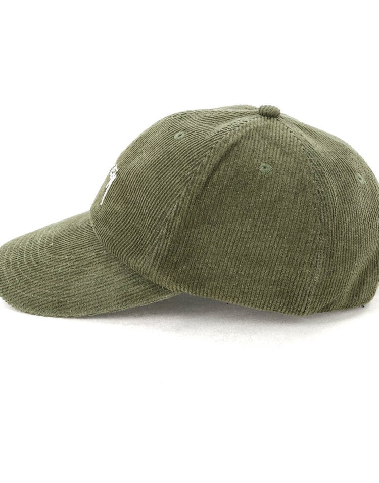 fc6013e63 Stussy Authentic Cord Low Pro Cap Green