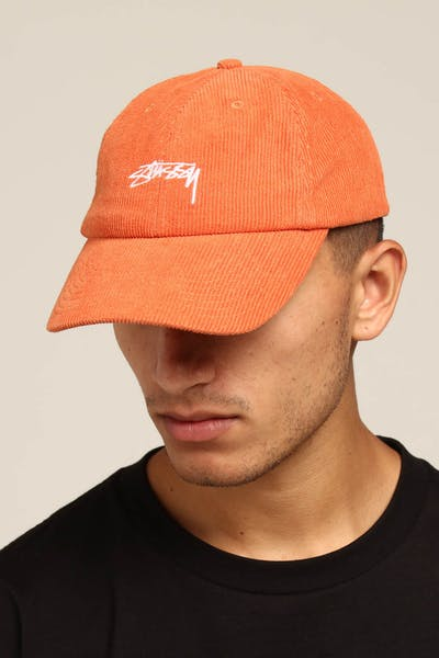 Stussy Authentic Cord Low Pro Cap Orange