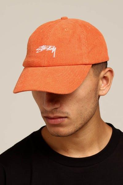 449540c718ef4 Stussy Authentic Cord Low Pro Cap Orange
