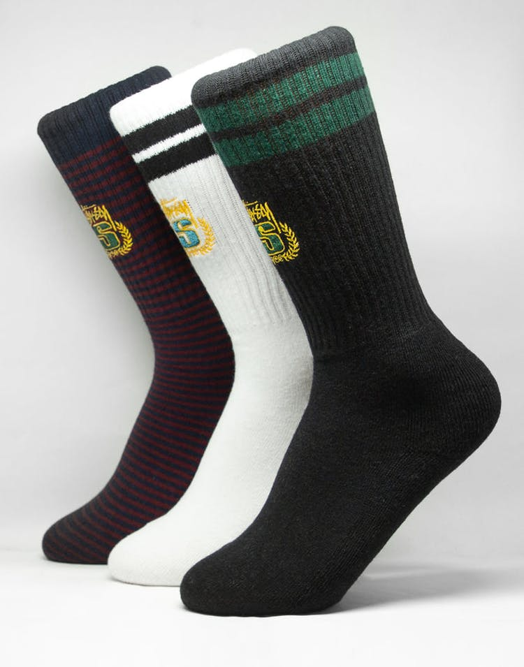 Stussy Crest Stripe Sock Multi-Coloured