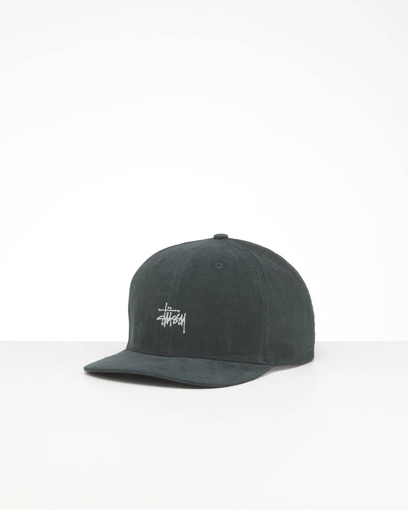 STUSSY GRAFFITI CORD SNAPBACK CAP BOTTLE GREEN