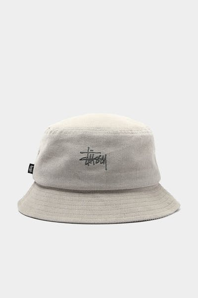 Stussy Graffiti Cord Bucket Hat White Sand