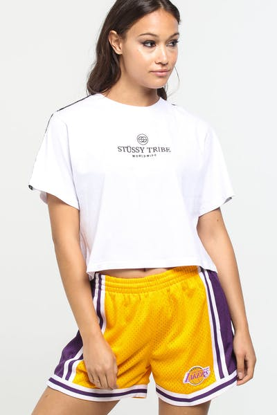Stussy Women's Faith Crop OS Tee White