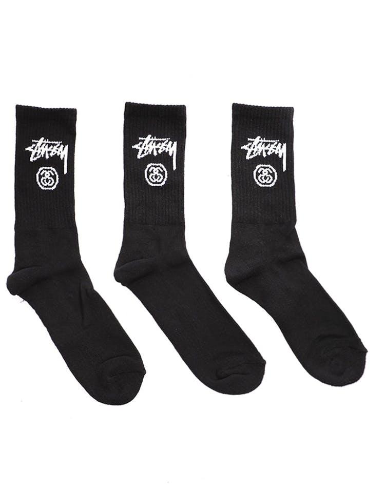 357c990862f Stussy Stock Crew Socks 3 Pack Black – Culture Kings