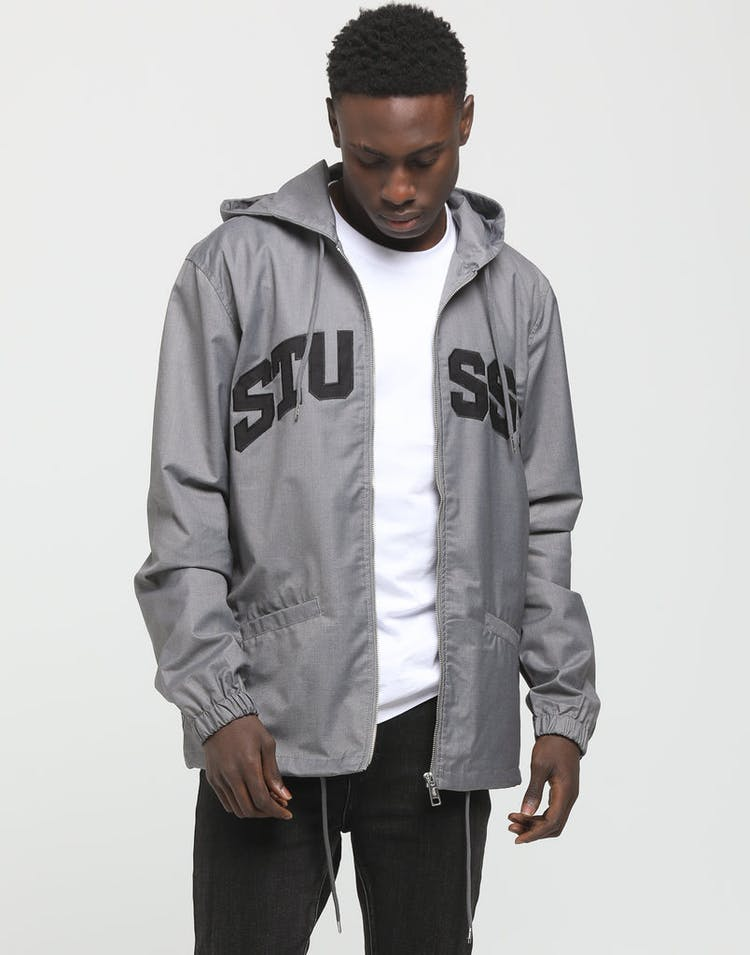 795dd1c25 Stussy | Sport Hooded Coaches Jacket Grey Marle | Mens | Just In – Culture  Kings