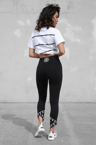 Stüssy Night Cat Crop Legging Black/White