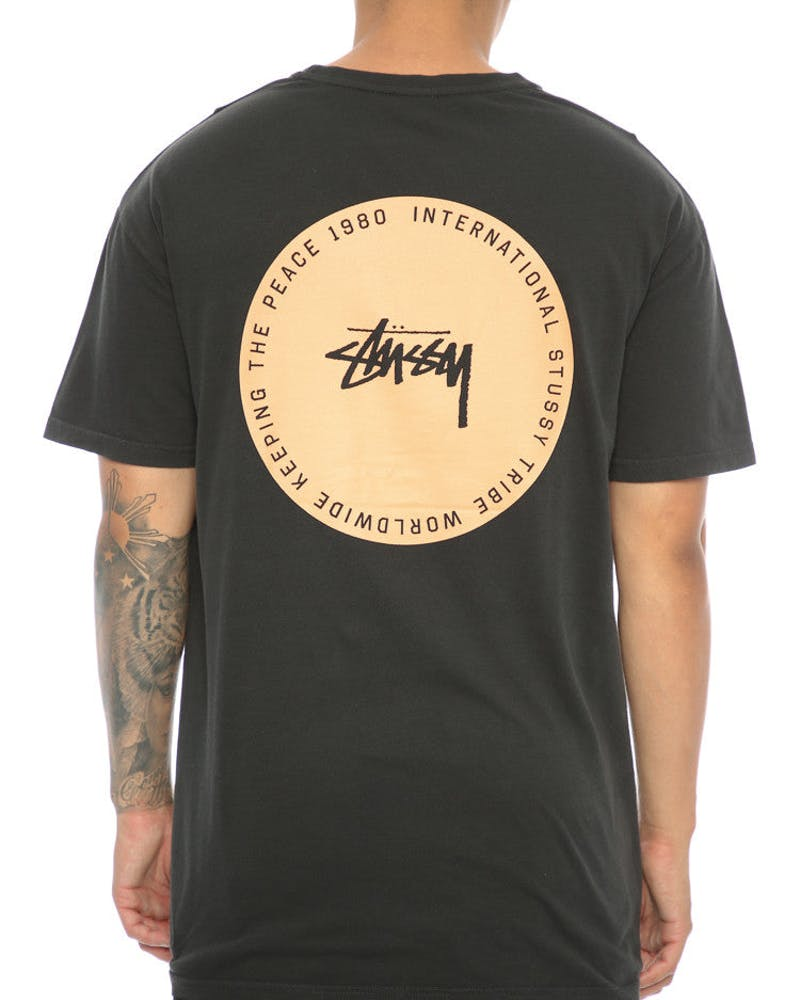 Stüssy Keep The Peace SS Tee Washed Black