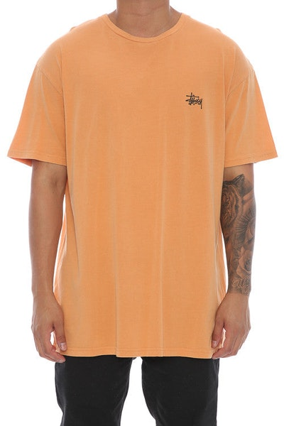Stussy Basic Pigment SS Tee Orange