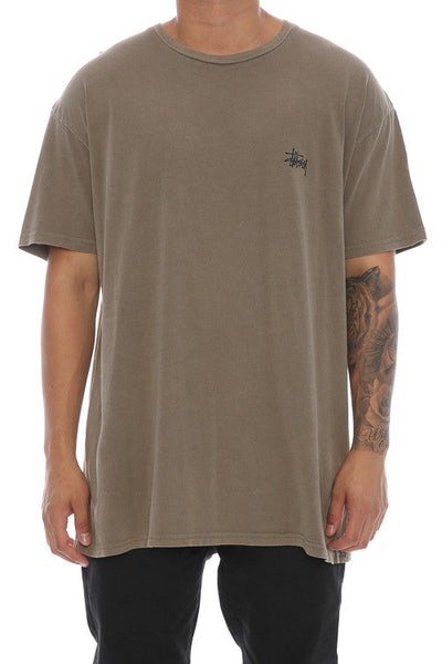 Stussy Basic Pigment SS Tee Stone