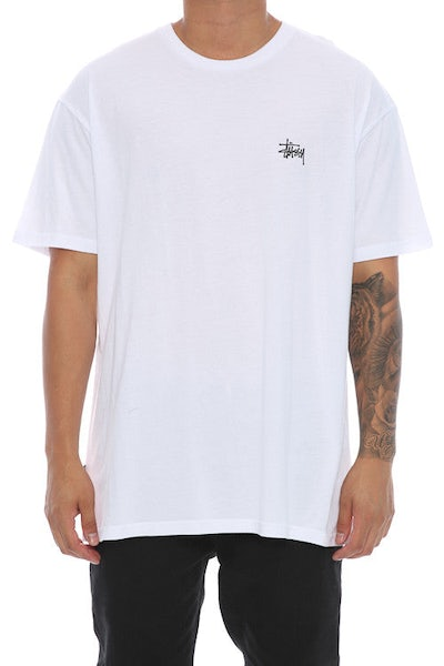 Stussy Basic Pigment SS Tee White