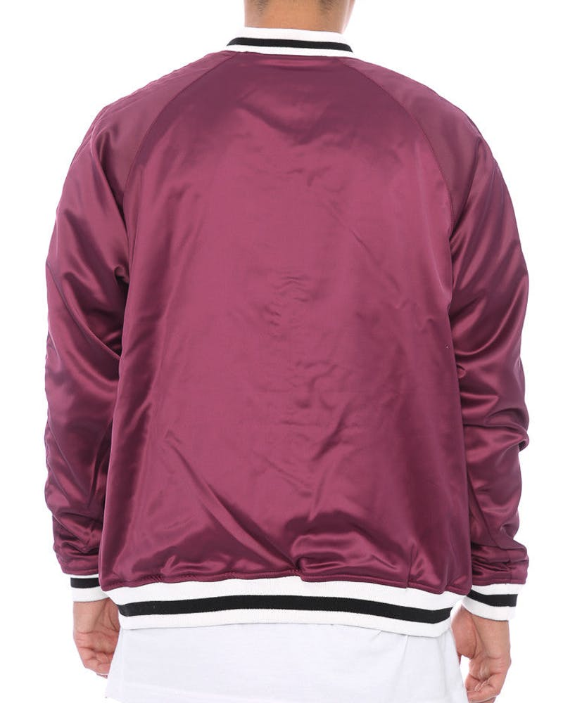 Stussy Tiger Satin Reversible Bomber Jacket Black