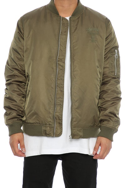 Stüssy Luxe Bomber Jacket Military